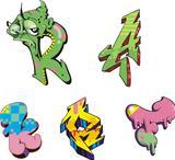 Grafiti inital letters