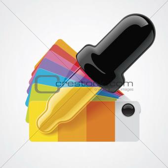 Vector color picker icon