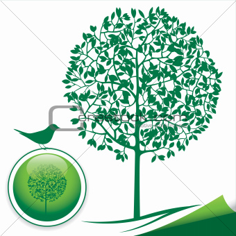 Green Tree Silhouette Icon
