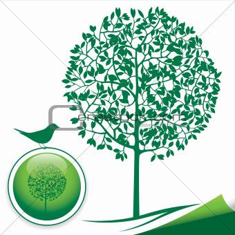 Green Tree Silhouette Icon