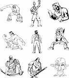 Fantasy men and warriors