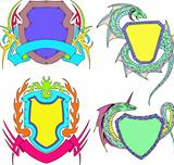 Stylized shield templates