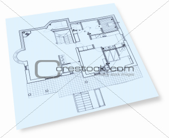 House construction drawings blueprint