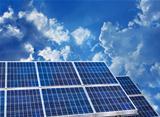Solar panels blue sky
