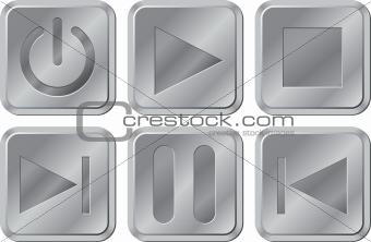 Aluminium Media Buttons