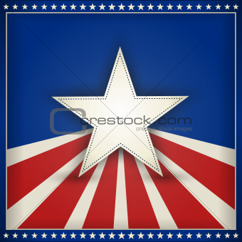Patriotic USA background with stars and stripes