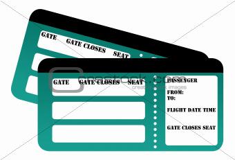 Blank boarding card passes