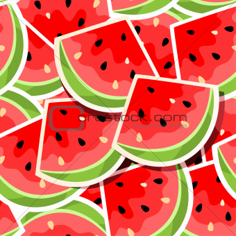 Seamless background with watermelon