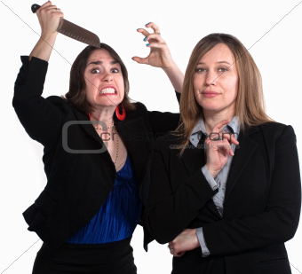 Back Stabbing Businesswomen