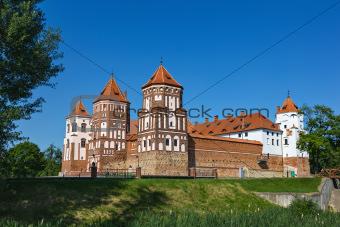 Gothic castle in Mir (Belarus).
