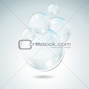 Vector Idea Bulbs. Glass Chat Bubbles
