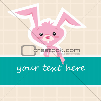 Cartoon bunny card