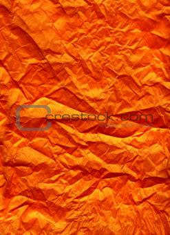 Orange silk paper