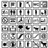 International service signs. All objects are isolated and groupe