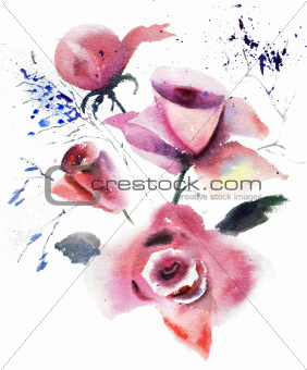 Decorative illustration of Roses