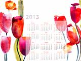 Colorful calendar for 2013