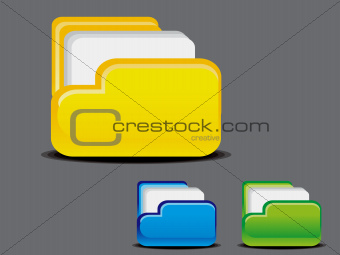 abstract glossy folder icon