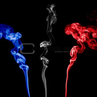Three Colorful Smoke