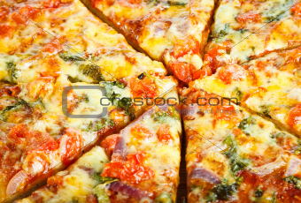 Close-up of homemade pizza
