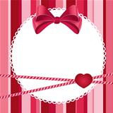 pink scrap background with bow