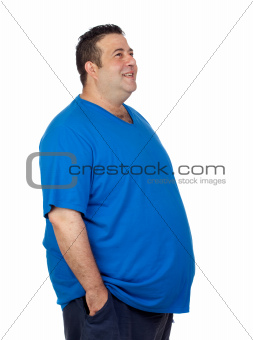 Happy fat man