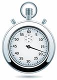 vector silver stopwatch