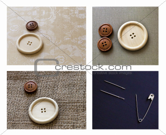 Buttons and needles