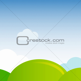 Green meadow nature background