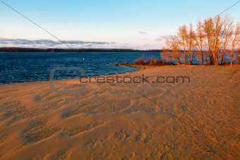 Strukovsky Garden Beach on Volga River in Samara, Russia