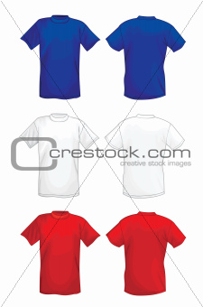 Multicolored vector T-shirt design template