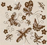 Natural garden pattern