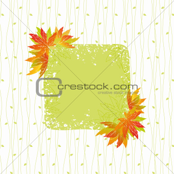 Colorful autumn leaves with seamless pattern background
