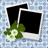 Clover leaf and flowers design