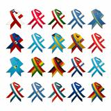Country flag ribbons