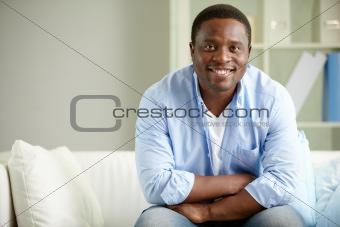 Guy on sofa