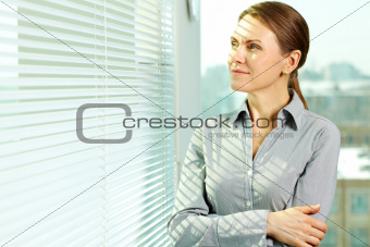 Woman in office