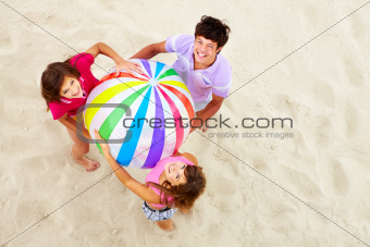 Teens with big ball