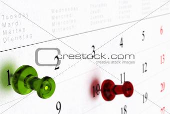 calendar or schedule