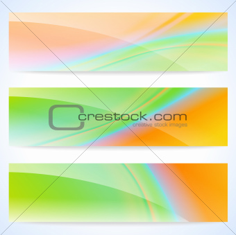 Glossy soft abstract banners