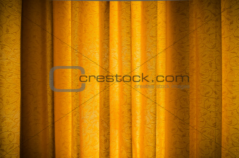 Gold vertical Curtain