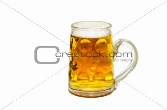 German beer glass cut out on white