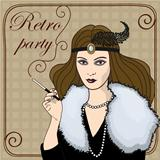 smoking-woman-in-retro-style