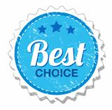 Best choicse - shopping retro label