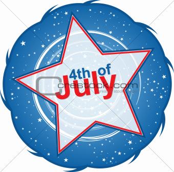 4th of July star, design element, eps10 illustration