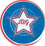 4th of July star, design element, eps10 illustration