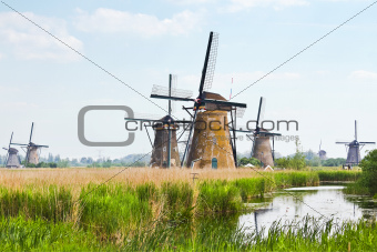 Eight from the nineteen windmills in Kinderdijk
