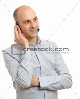 Portrait of a handsome customer service operator