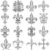 Fleur-de-lis set