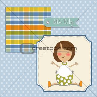 little girl announcement card