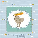 birthday card with catr